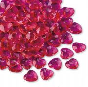 Wedding table decorations Cerise Heart Diamantes